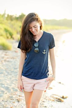 Anchored Down Summer Outfits Women, Casual Summer Outfits, Short Outfits, Preppy Style, My Style, Classy Style, Simple Style, Girl Fashion, Preppy Fashion