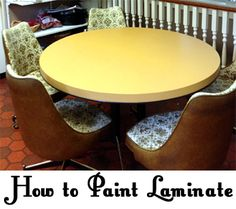 If you have ugly laminate countertops (also called Formica), flooring, furniture, or cabinets, you can paint these items to give them a new look.  Follow the steps below for how to paint laminate.  DisassembleIf your laminate furniture or ca...