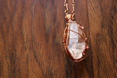 Quartz Crystal Intricate Wire Wrapped Necklace by TerraArcana