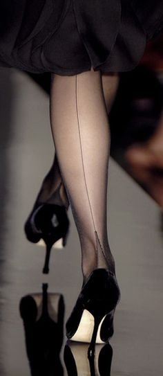 SIL Full Fashioned Stockings - French Heel