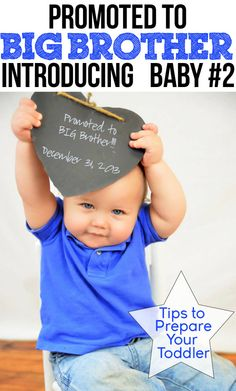 Promoted to Big Brother - Introducing Baby #2 www.iheartartsncrafts.com Tips to Prepare Your Toddler