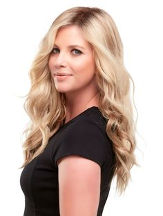 A bold, unfettered attitude shines brighter with this easygoing, wavy style. This clip in topper adds volume and looks completely natural with a monofilament base. Perfect for the beginning and mid/progressive stages of hair loss Natural Hair Growth, Natural Hair Styles, Long Hair Styles, Long Wigs, Short Wigs, Wigs For Cancer Patients, Blonde Layers, Jon Renau, Hair Toppers