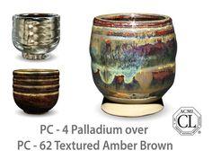 palladium over textured amber brown