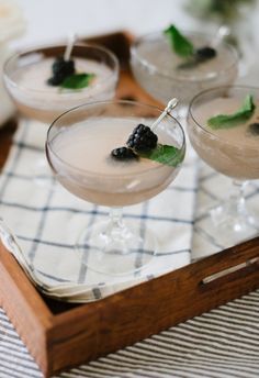 Refreshing gin berry sparklers.