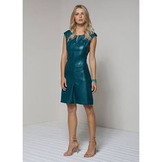 Prusion Blue Leather Dress