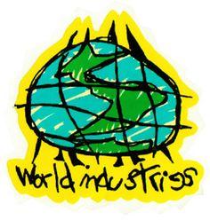 stickers SMA World Industries Globe Logo Skateboard Sticker Skateboard Logo, Skateboard Design, World Industries Skateboards, Globe Logo, Children Sketch, Vintage Skateboards, Skate Art, Kids Logo, Surfs Up