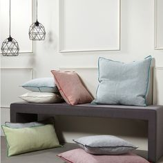 Color Variety of Decorative Pillows by HAUZ Entryway Bench, Decorative Throw Pillows, Furniture, Color, Collection, Home Decor, Entry Bench, Hall Bench, Accent Pillows