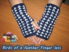 Birds of a Feather Finger-Less Gloves 600 WM