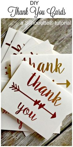 DIY Thank Cards a silhouette tutorial-createandbabble.com