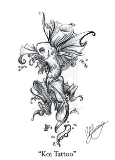 Tattoos Art Picture With Free Japanese Lotus Koi Designs Aztec Tattoos Sleeve, Tribal Rose Tattoos, Tattoo Flash, Traditional Japanese Tattoo Designs, All Out Anime, Wing Tattoos On Back, Evil Tattoos, Joker Tattoos, Sexy Tattoos