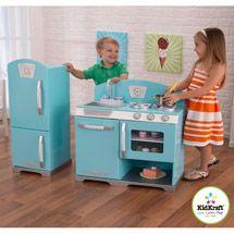 KidKraft Retro Play Kitchen & Refrigerator (from Walmart)
