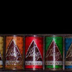 Blatz Milwaukee flat top beer cans