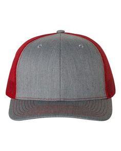 2da6fed625b Heather Grey Red - Snapback Trucker Hat