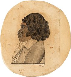 Banalong [Bennelong], c. 1793 /  W.W. [William Waterhouse].  Pen and ink wash  DGB 10, f. 13.  Find more detailed information about this photograph: http://www.sl.nsw.gov.au/events/exhibitions/2010/mari_nawi/02_colonists/image02.html#  From the collection of the State Library of New South Wales: http://acms.sl.nsw.gov.au/item/itemDetailPaged.aspx?itemID=447340