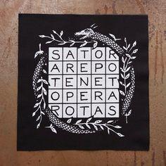 Sator Square back patch