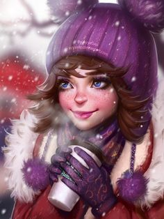 ArtStation - Snow and coffee, Ayya Saparniyazova