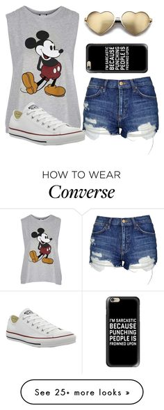 """""""Read The Description!"""" by lil-child-of-god on Polyvore featuring Topshop, Wildfox, Casetify and Converse"""