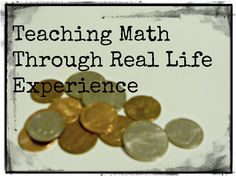 teaching math through real life experiences