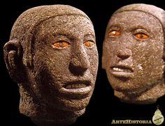 Cabezas masculinas. Cultura Azteca (México) Autor: Fecha: 1325-1521 Museo: Museo Nacional de Antropología de México