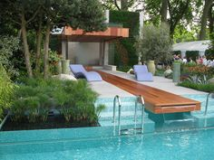 love the chairs - chelsea flower show A Monaco Garden Designed by Sarah Eberle