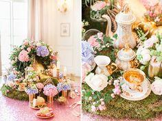 tea party centerpiece @weddingchicks