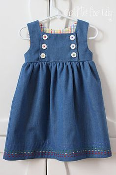 Crafts For Lily  Rainbow Remix -tutorial to modify the Junebug Dress from  Craftiness is Not Optional c71d4888c1