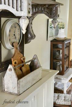 Faded Charm: ~Primitive Pie Cupboard~