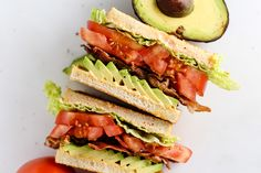 Make lunch easy with these simple lunch recipes with just 5 ingredients, including a classic BLT, pizza muffins, buffalo chicken wrap, and more at Genius Kitchen. Sandwich Recipes, The Fresh, Cravings, Sandwiches, Tasty, Delicious Recipes, Vegetarian, Stuffed Peppers, Meals