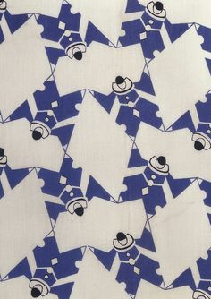 Pierrot, dress fabric. Calico Printers' Association. Printed cotton. UK, 1937 (V: T.267-1987). From V Pattern Series II: Novelty Patterns published by V Publishing and Abrams Books.