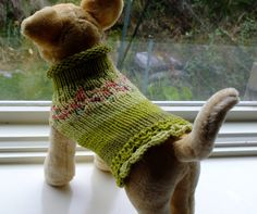 Dog Sweater Hand Knit XX Small Emily 8.5 inches long Black FRIDAY SALE on Etsy, $14.99