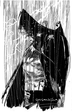 Batman by Sienkiewicz, in Greg G.'s Bill Sienkiewicz Comic Art Gallery Room Comic Book Artists, Comic Artist, Comic Books Art, I Am Batman, Batman Art, Batman Figures, Batgirl, Power Girl, Blade Runner