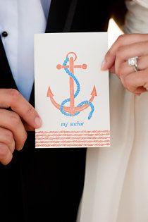"""you are my anchor"" card idea to give to spouse Wedding 2015, Wedding Pins, New York Wedding, Wedding Wishes, Wedding Images, Our Wedding, Destination Wedding, Dream Wedding, Wedding Ideas"