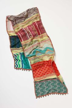 Coined Patchwork Scarf | Anthropologie.eu