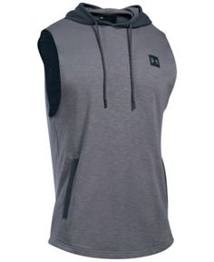 Under Armour Men's Sportstyle Sleeveless French Terry Hoodie - Gray XXL