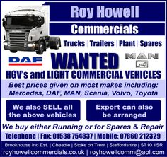 Roy Howell - HGV's & Light commercial vehicles