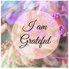 I am grateful  #Gratitude #Love