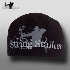 976ccf8e0 String Stalker Black Fleece Bow Hunting Beanie Hunting Hat, Archery Hunting,  Camo Bows,