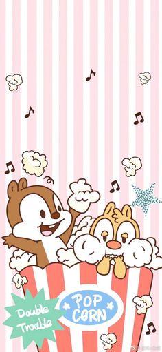 Chip and dale Cute Disney Wallpaper, Kawaii Wallpaper, Cartoon Wallpaper, Iphone Wallpaper, Kawaii Disney, Nickelodeon Cartoons, Disney Cartoons, Tic Et Tac Disney, Chip Y Dale