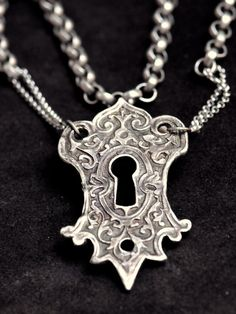 Large Solid Sterling Keyhole Pendant Elemental Adornments Christi Anderson. $180.00, via Etsy.