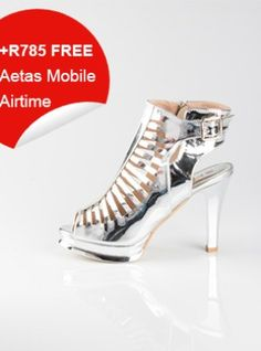 Silver Platform High Heeled Sandals Platform High Heels, Heeled Sandals, Cleats, Kitten Heels, Silver, Stuff To Buy, Shoes, Women, Fashion