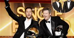Cohosts Blake Shelton and Luke Bryan duped the crowd at the 2014 Academy of Country Music Awards on Sunday, April 6, by dressing up as Daft Punk