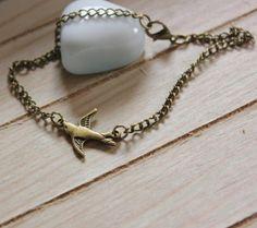 Armband vintage bronze - Schwälbchen von Le petit bouton auf DaWanda.com