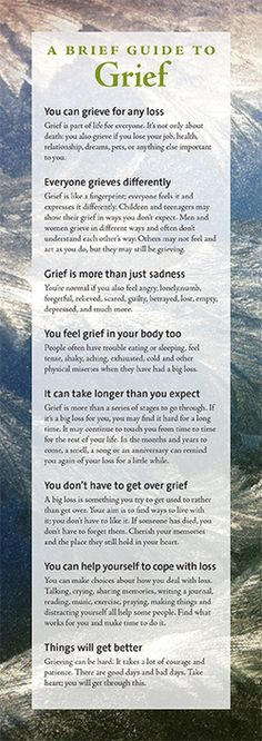 A brief guide to grief, by Lois Tonkin www.loistonkin.com This is available to order as a poster too.