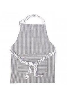 Lexington Graphite Striped Oxford Apron