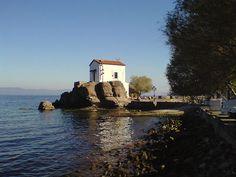 """Panagia Gorgona"" Skala Sikamnias Virtual Travel, Greek Islands, Greece Travel, Planet Earth, Planets, Relax, Europe, Dreams, Mansions"