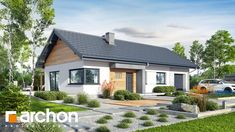 Dom w szmaragdach 3 Traditional House, House Plans, Pergola, Bungalow, Shed, Outdoor Structures, Cabin, Mansions, House Styles