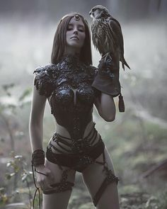 "22.6k Likes, 206 Comments - A.M Lorek Photography (@agnieszka_lorek) on Instagram: ""My fantasy dimension with @forest_spirit_art model & falcon Crank. Costume made by @agnieszkaosipa…"""