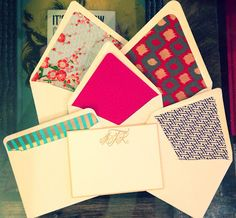 The Re-Inspired: diy: monogrammed stationery