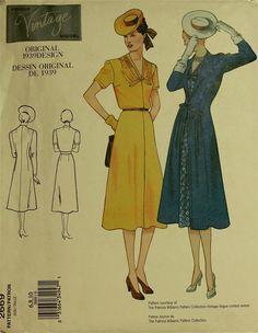 Dress & Coat - 1930's - Vintage Vogue Pattern 2669 Uncut Sizes 6-8-10 Bust 30.5-31.5-32.5""