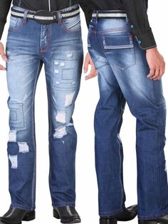 33246 Jeans Caballero Jr Alf, 68% Cotton 32% Polyester - Blue